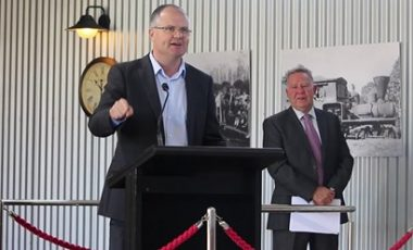"""NAMBOUR ON THE RIGHT TRACK FOR A BRIGHT FUTURE Officially opening the new Nambour Heritage Tramway Depot, Ted O'Brien MP, Federal Member for Fairfax, said the project was a huge milestone in the reimagining of the historical town. """"This project is a great example of what can be achieved when governments and the community have a dream and work together to achieve it,"""" Mr O'Brien said. """"We've brought this attraction back to life and we look forward to seeing it trundling through Nambour for many years to come. """"I can't wait to get on board this piece of street theatre and travel along the beautiful streets of Nambour."""" The terminus project, which includes an information centre, has been funded by the Federal Government, the Sunshine Coast Council, and the Nambour Tramway Company (TNT Co), with contributions from the local community including a generous donation from philanthropists Roy and Nola Thompson. Mr O'Brien secured half a million dollars of Federal funds, awarded through the National Stronger Regions Fund, to add to the $1.3 million raised by TNT Co and the $2.6 million contributed by the Sunshine Coast Council. Sunshine Coast Council Mayor Mark Jamieson said council was pleased to help provide a rich historical experience in Nambour. """"This heritage-listed tramline provides Nambour with a point of difference, it will help drive tourism and importantly support our local economy,"""" Mayor Jamieson said. """"Nambour's newest attraction is the result of many years of community effort to get the tramway on track. """"It builds on council's strong and continuing support for Nambour that will give a lot of confidence to local businesses and capitalise on the work done over many years to provide a vibrant and fulfilling future for Nambour and its community,"""" Mayor Jamieson said. Greg Rogerson, Chairman of the Nambour Tramway Company said, """"I'm delighted to finally be able to host the Official Opening of the Terminus building and give people their first glimpse of the Tram des"""